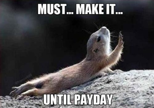 Waiting for payday