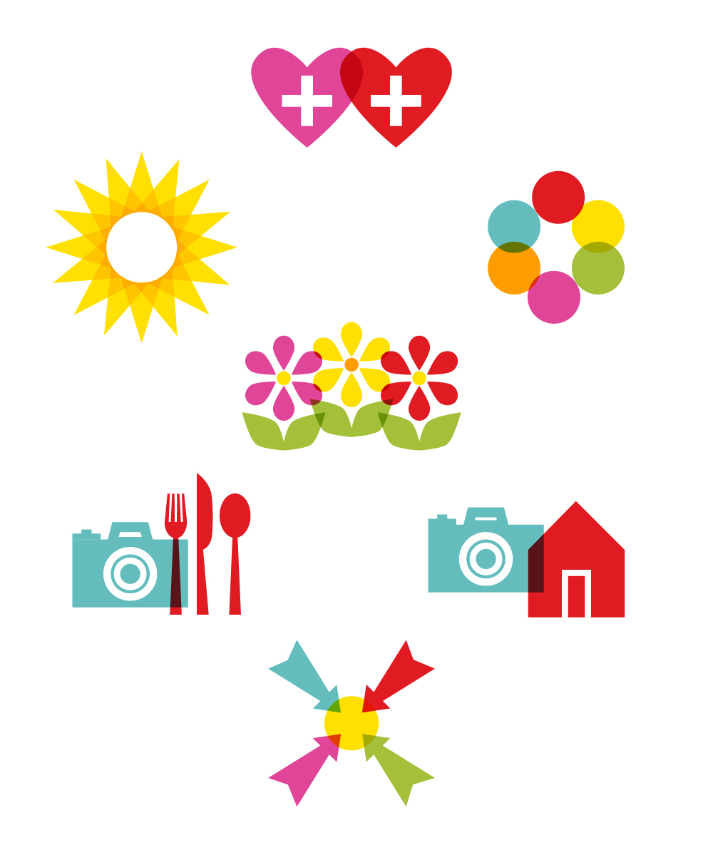 Recent Work: Colorful + Graphic Icons | Mara Dawn