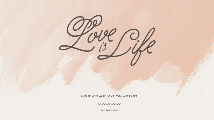 wise words desktop wallpaper love is life mara dawn