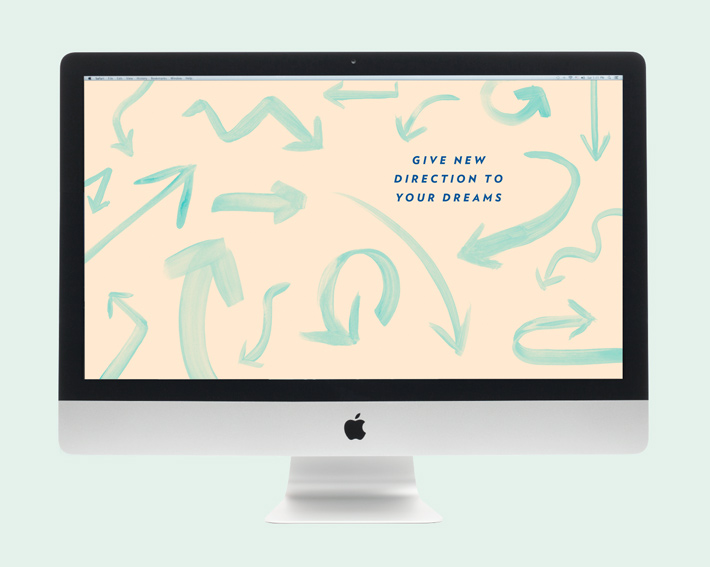 wise words: new direction desktop wallpaper | mara dawn