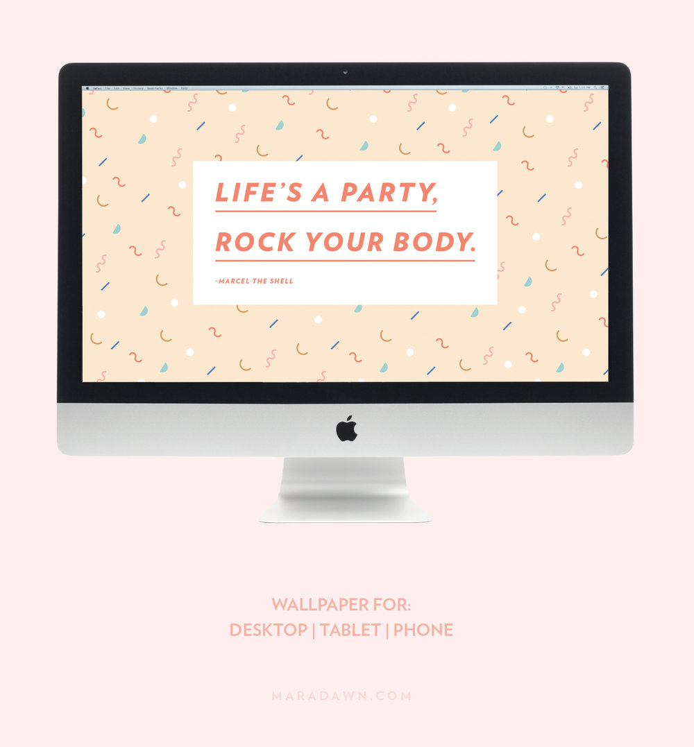 Life's a Party, Rock Your Body Wallpaper