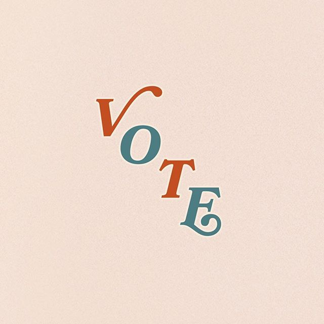 I designed these free voting stickers for the @adesignkit app. Go download them and most importantly, go vote!