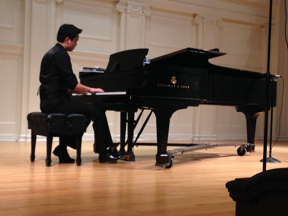 Hunter Chang performing an improvised Solo Piano piece at the LEARN Benefit Concert