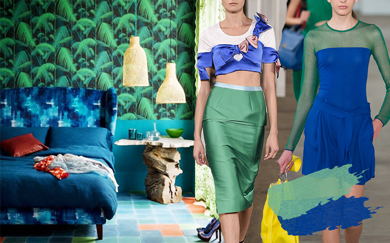 Trees grow higher, everyday closer to the sky, that isn't even as close to as how much I love shopping @suggesty Bring the freshness to your fashion and life. Blue and green will energize you again. Get some ideas from  2017 spring collections (Ports 1961, Boss, Milly) and 2017 resort collections (Fendi, prabal gurung)