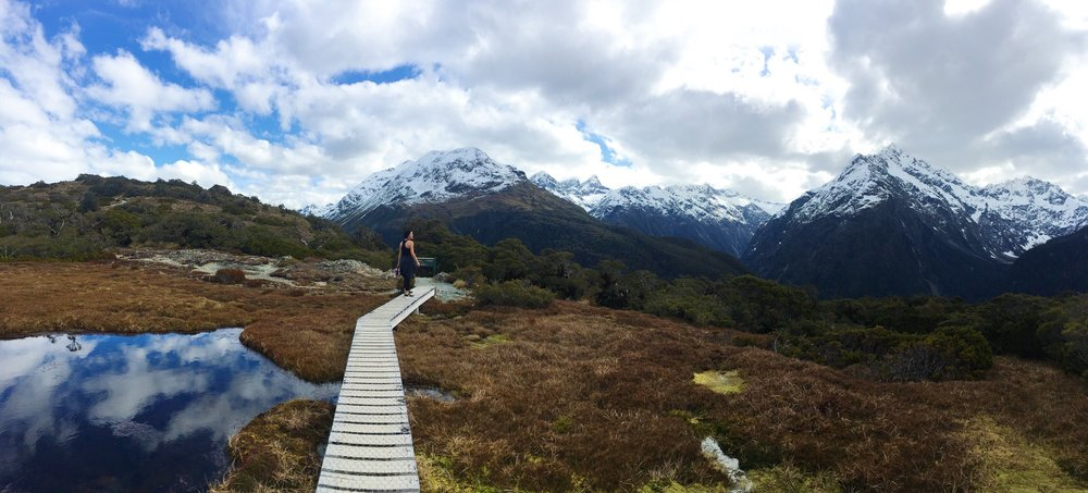 Oct. 15, 2016 Hiking Key Summit on the Routeburn Track in Fiordland National Park