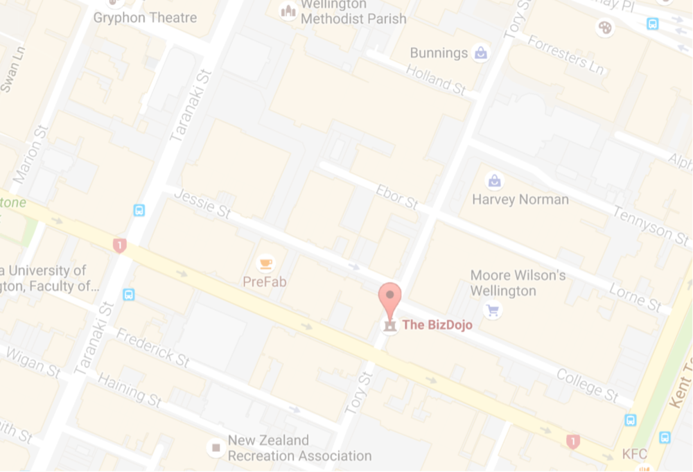 WELLINGTON OFFICE   Bizdojo 115 Tory St Wellington 6011  (+64 4) 889 0964