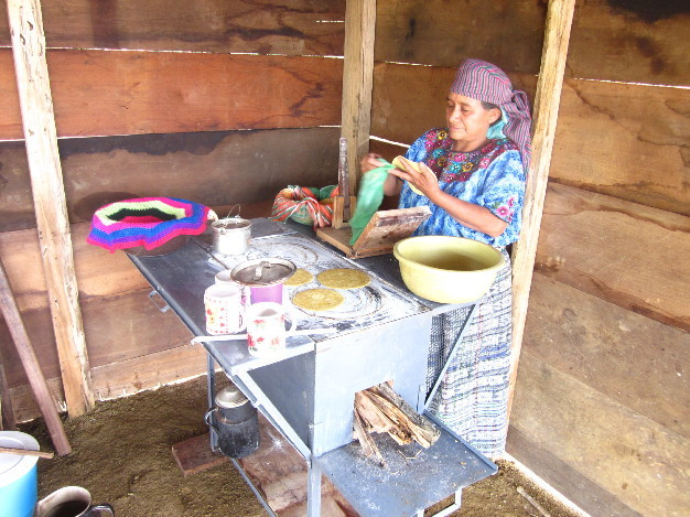 Once the stove is installed the villagers are able to cook in clean air!