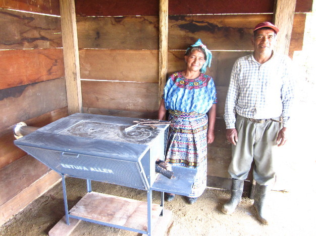 The villagers are now breathing clean air inside their home for the first time.