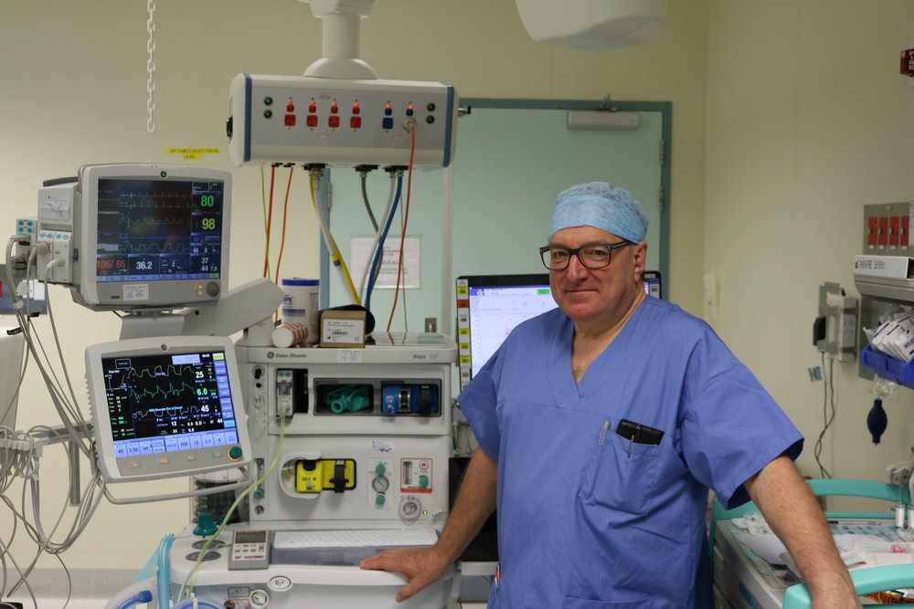Dr David Sapsford, Director of Anaesthesia