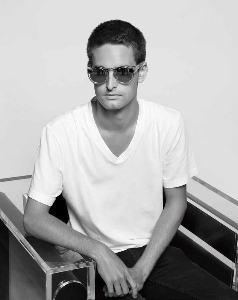 Evan Spiegel wearing Spectacles (photo by Karl Lagerfeld for Wall Street Journal).