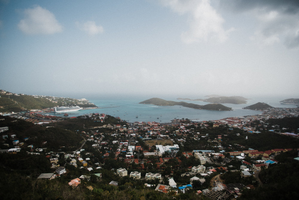 The Virgin Islands from the top of St. Thomas