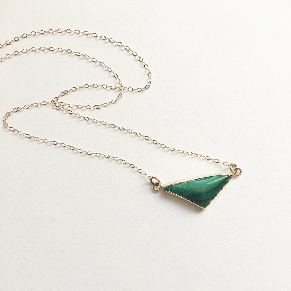 LUXE malachite necklace