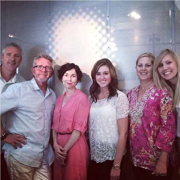 Eric, Bruce, Kerry, Erica, Lisa, and Miche in the Benning offices (2014)