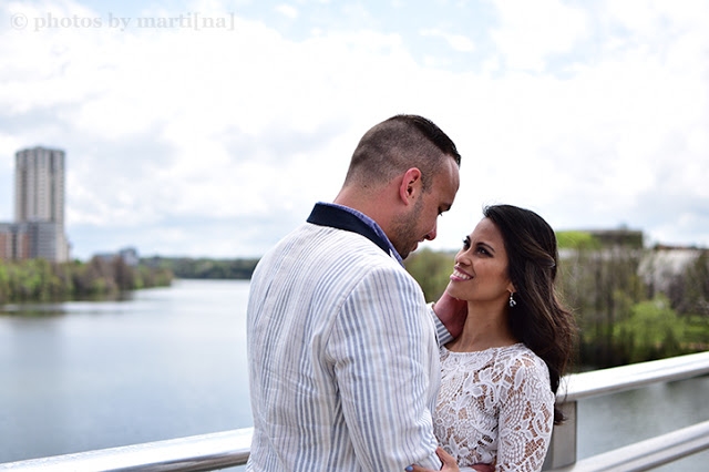 Newly weds on Congress bridge in Austin, Texas