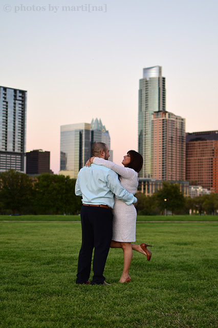 Engagement photos with Elexis & Larry in downtown Austin, Texas