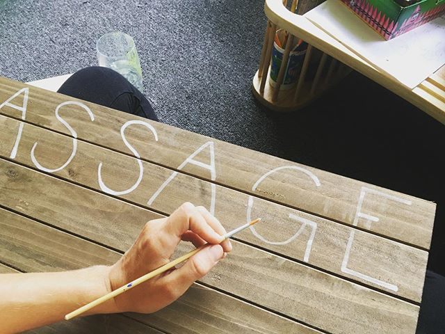 Phase I of painting the signage for my new location. #imalsoanartist #artist #sign #painting #massagetherapy #massage #florida #tampa #healing #healthylifestyle #painting #handpainted #meditative #Florida #sundshine #tampa