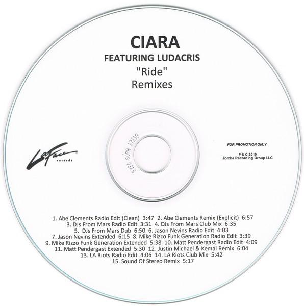 "Ciara ft. Ludacris   ""Ride (Matt Pendergast Remix)'  (2010)  • Remix Production, Mixing"