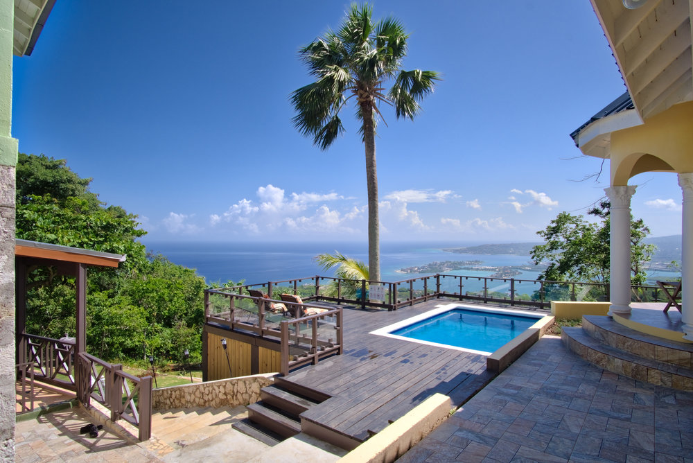 Point of View Villa & Spa - view of the pool and Caribbean Sea