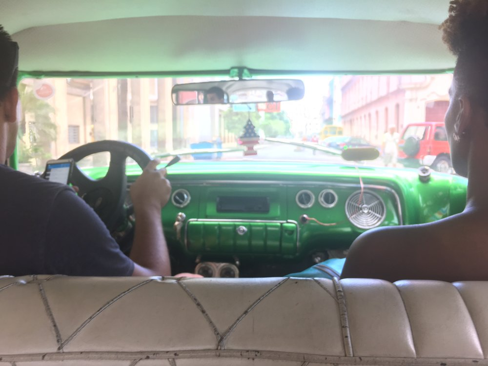 Nothing cooler than driving in a car that was on the road in 1955. - Havana, Cuba