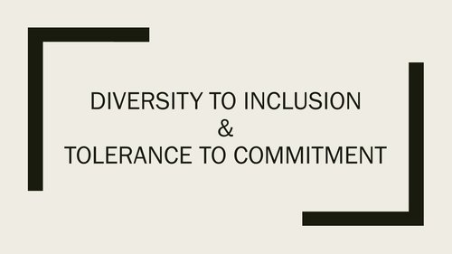 Diversity to Inclusion