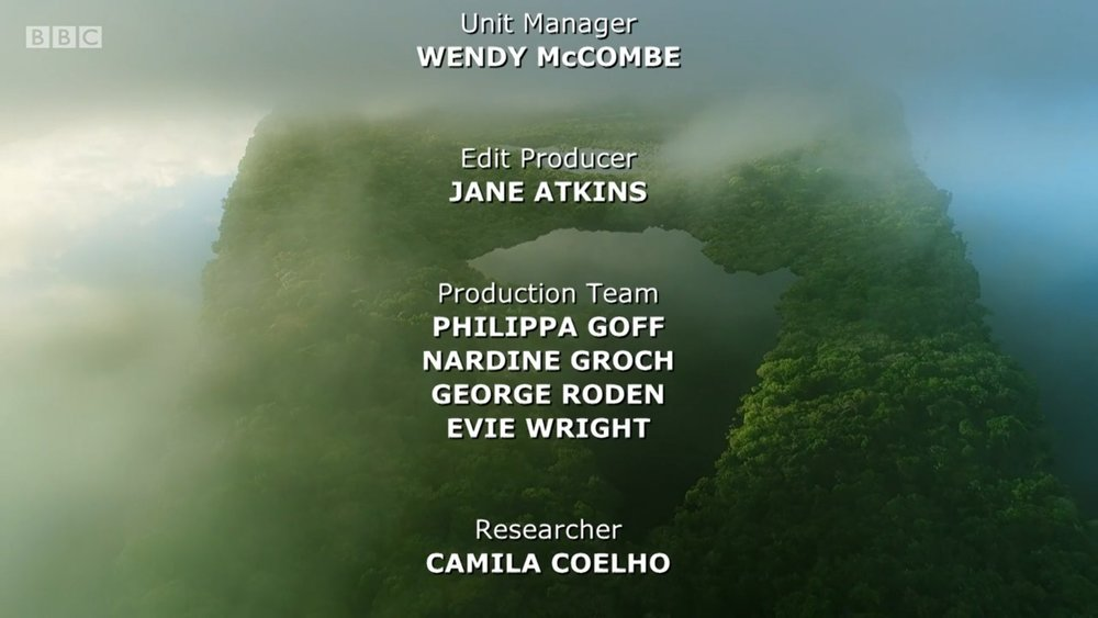 STORY LOGGER   BBC NHU's  EARTH'S GREAT RIVERS  AMAZON  -  Logged hours of rushes into pre-edit wildlife scenes and began to block out narrative structures in Premiere Pro and transcribed interviews under the supervision of Series Producer Mark Flowers.