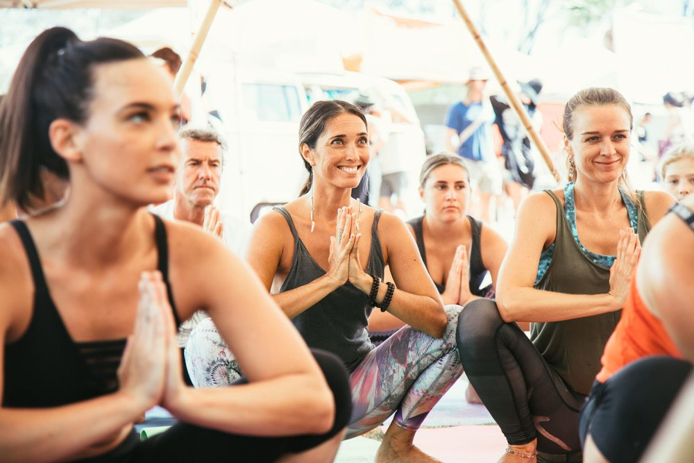 YOGA SESSIONS   8:00am Start Surf Art Markets Shaka Yurt    FREE EVENT    Wake up your mind, body and soul during 3 back-to-back sessions with local Byron Bay teacher Paloma Ferretti.   This will help you live (& surf) better :)     8:00-9:00am Vinyasa flow.  For yogis and surfers. Get in the flow and start your fest day right!     9:00-10:00am Acro Yoga.  Come and have some great fun learning to balance and fly!     10:00-11:00am Yoga Philosophy.  Dive further into the greater teachings of yoga.