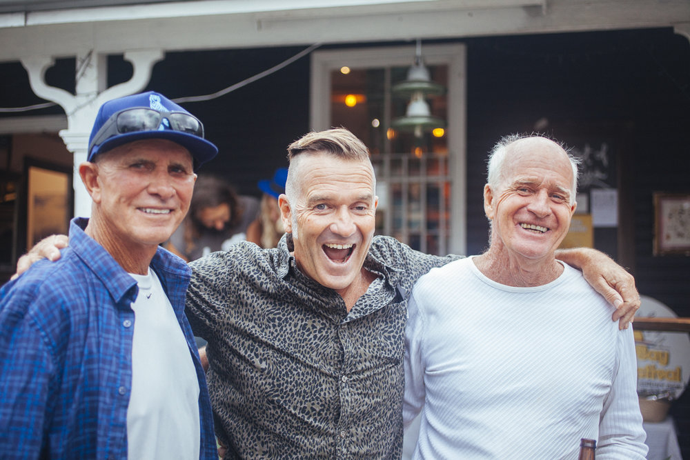 Honoured to have these Surf photo and filmmaker legends visit The Fest Dan Merkel, Dick Hoole, Jason Childs. Respect. Photo by @raffaellaphotography