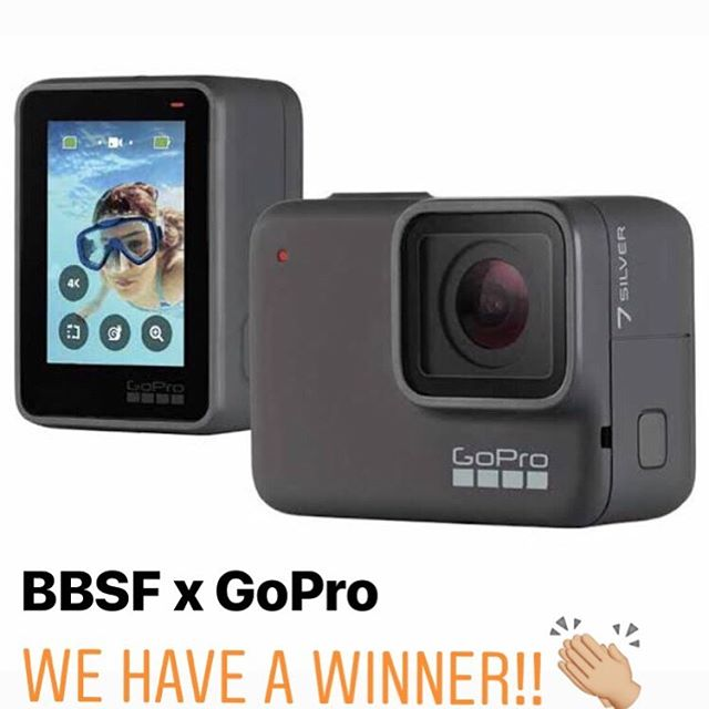 The winner of a brand new GoPro HERO7 Silver is...🥁 Ned Cowan!! @_nedc_ !! Congratulations buddy!👏🏼☀️⚡️🏄🏽♂️🌴🌈😜🧡🤙🏽 || Now go collect some awesome memories and tag us so we can see 'em!! . . Thankyou everyone for participating and thanks to @goproanz for generously donating this magic little camera! . . #byronbaysurffestival #bbsf2019 #surfculturenow || #goprohero7 #gopro