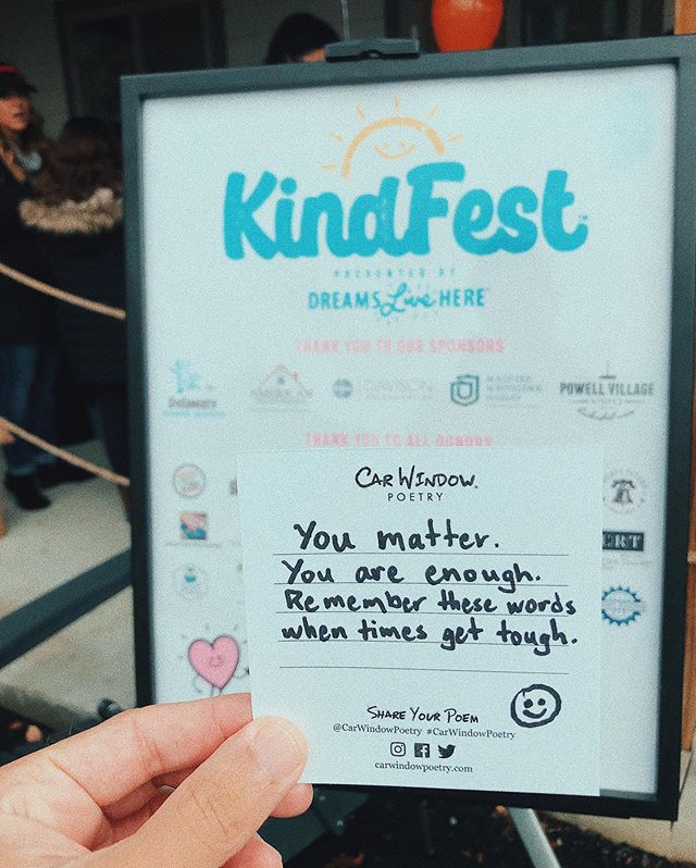 We had so much at KindFest over the weekend chatting with people about kindness and the power of words! Thanks to @yourdreamslivehere for putting on an amazing event!