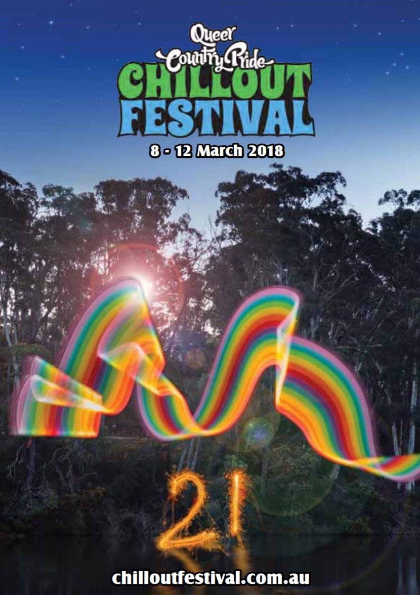 2018 - For its 21st birthday ChillOut festival celebrates Australia recognising marriage equality by hosting one lucky couple's marriage on the main stage during the festival.