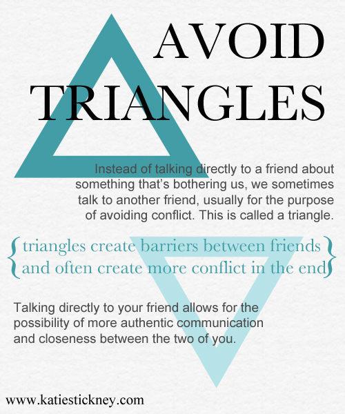 Triads are ok but triangles are not!