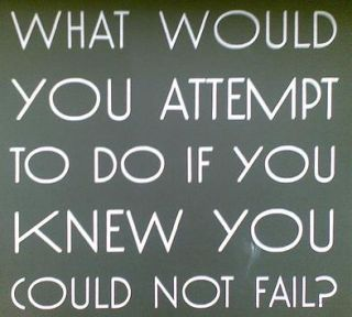 If rejection was guaranteed not to happen, what would you do. The answer tells you what is in your heart of hearts <3 x