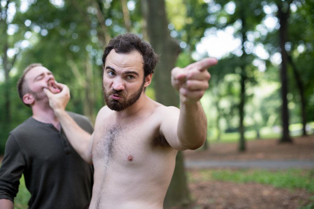 Patrick T. Horn as Rosencrantz and Jake Austin Robertson as Hamlet