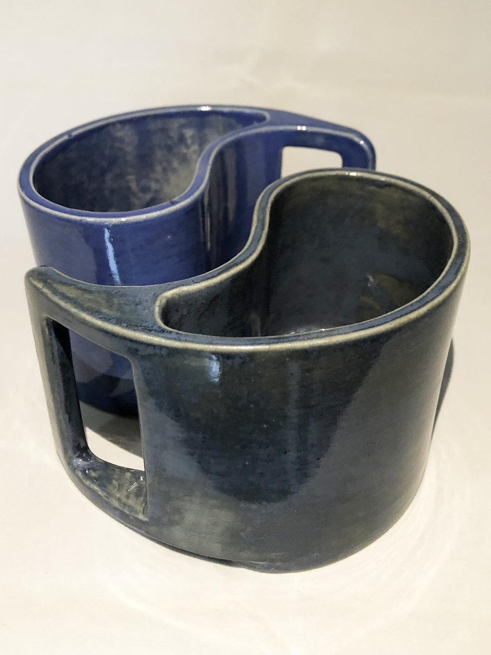 Yin and Yang Ceramic Cups