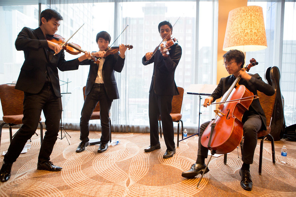 TIPS Alum Jay Yang on cello (far right) plays classic and current hits with classmates