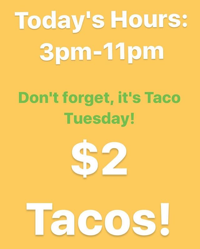 We will be open today! Tag a friend that needs tacos in their life after that storm!