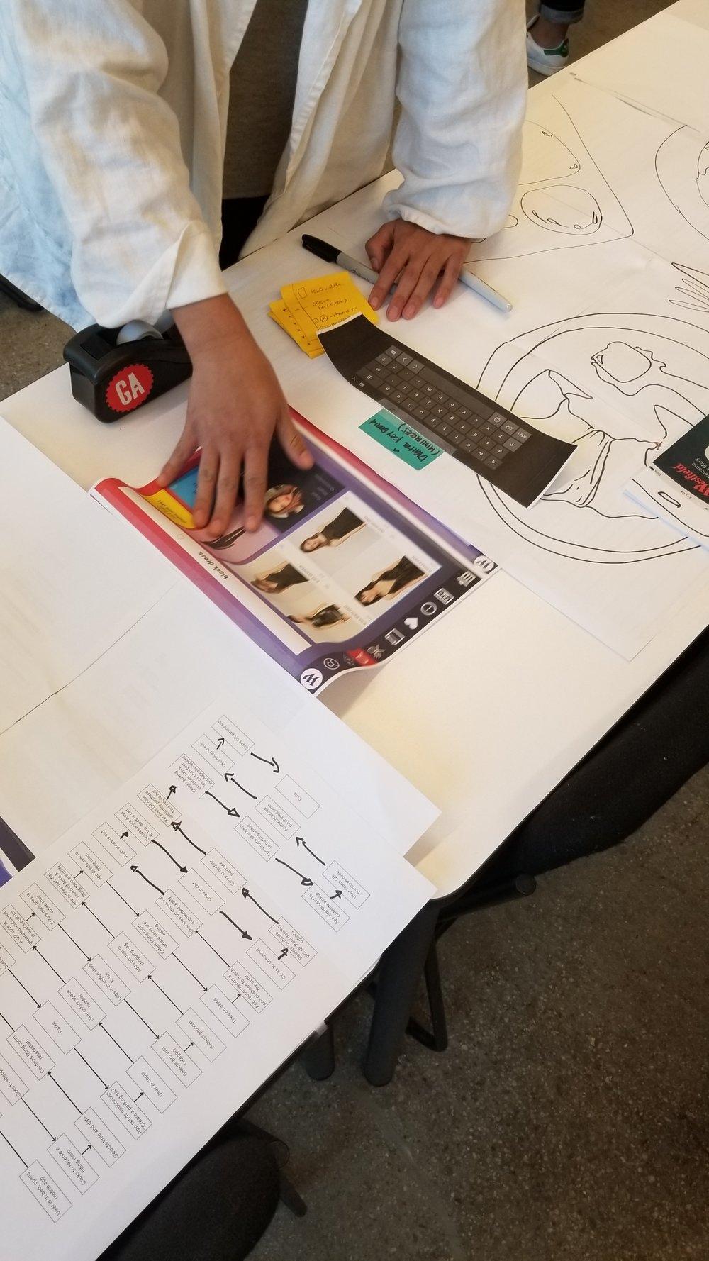 Kiosk Paper prototype User Test