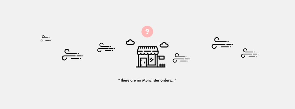 Small businesses have no way to reach out to 'Munchster' customers.