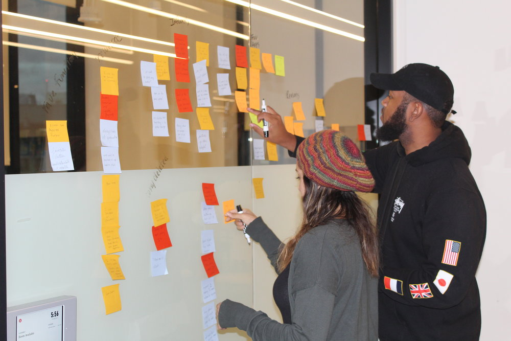 Building out an affinity map to identify patterns from our research