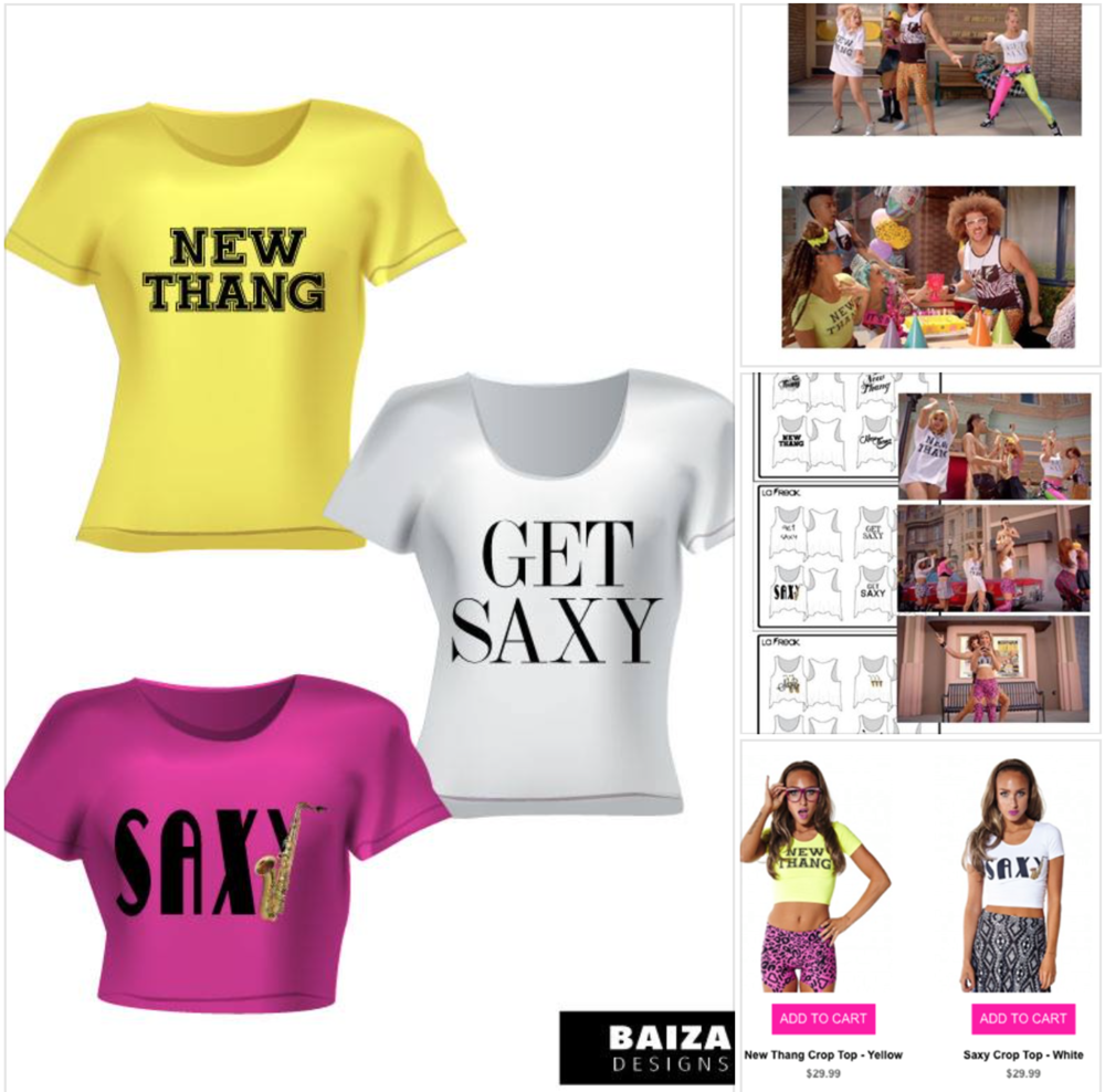 Get Saxy T-Shirt Design for Redfoo Music Video