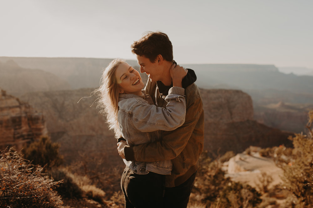 D+N Grand canyon couples session -