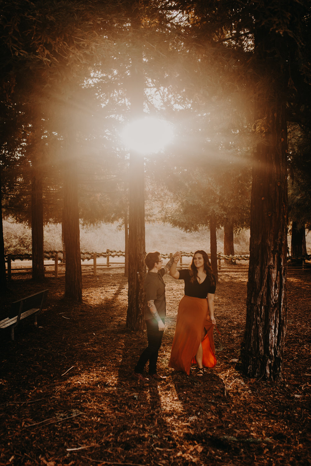 A+C Redwood couples session -