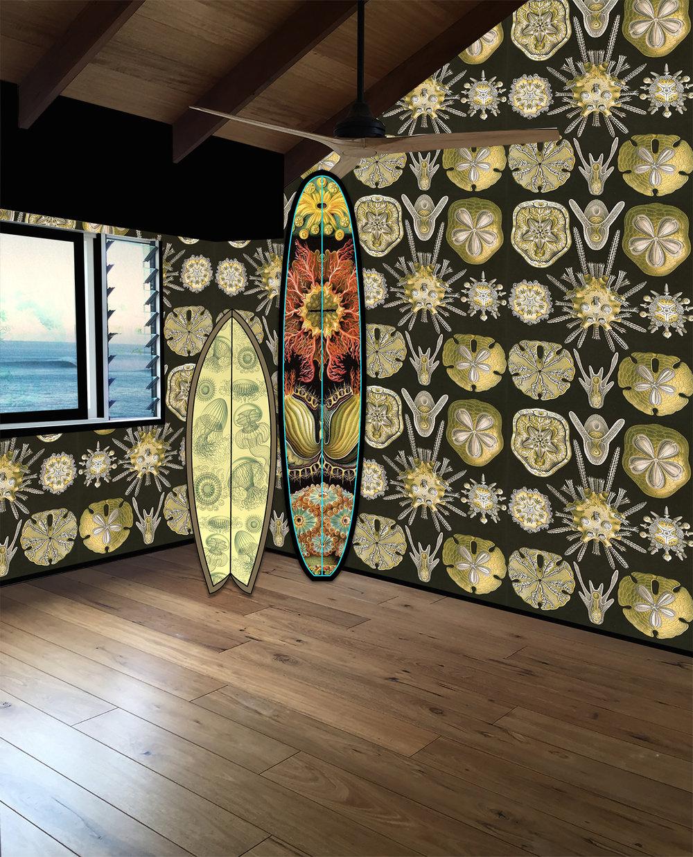 Ernst Haeckel Surf Textures