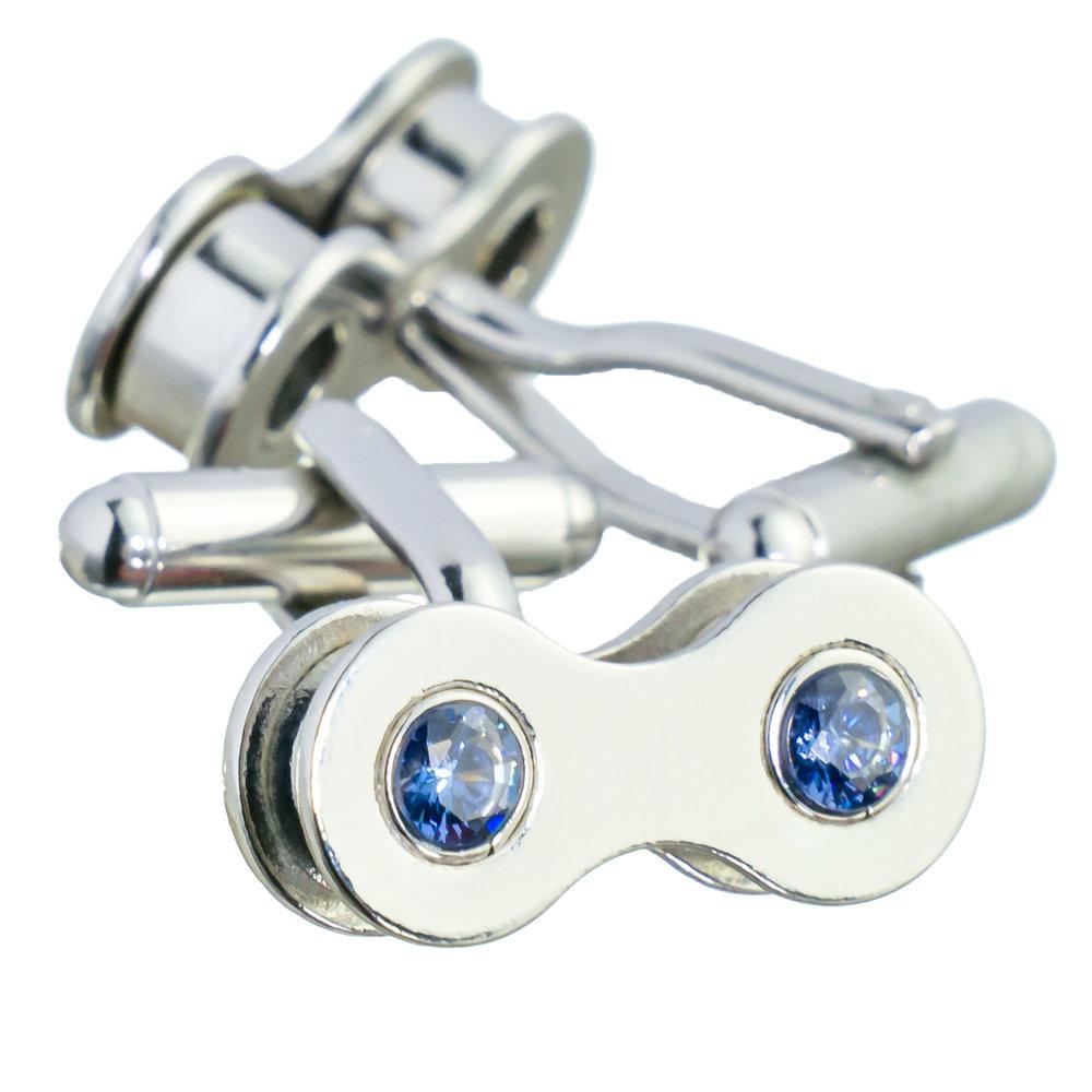 Silver cufflinks with Tanzanite