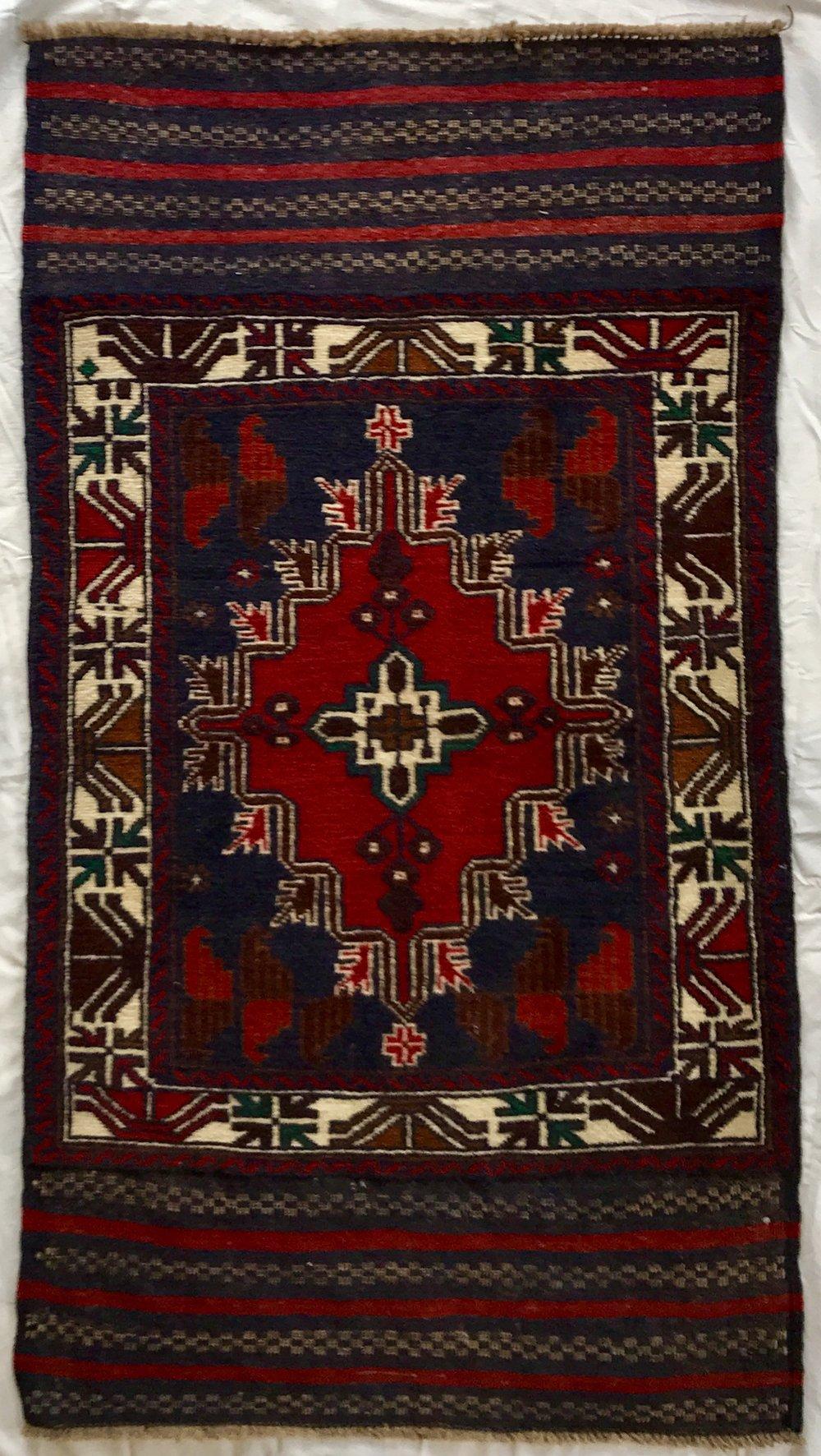 Baluchi tribal Afghan rug (149*83 cm)