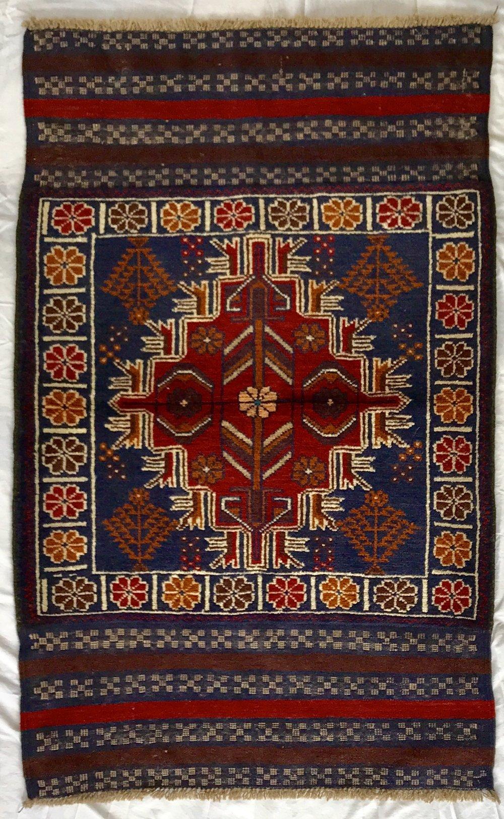 Baluchi tribal Afghan rug (135*83 cm)
