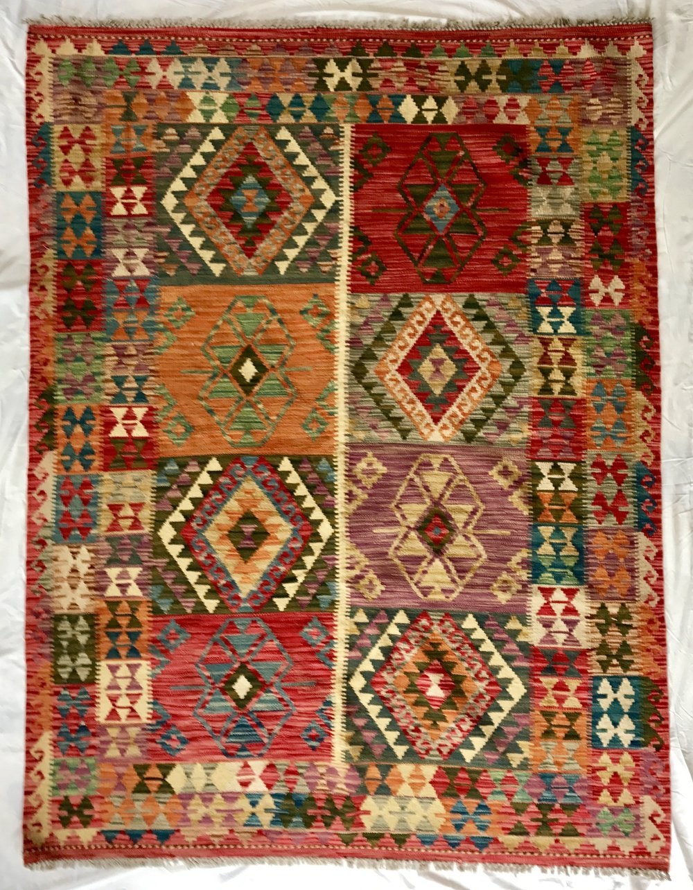 Fine Afghan vegetable dye kilim rug (200*153 cm)