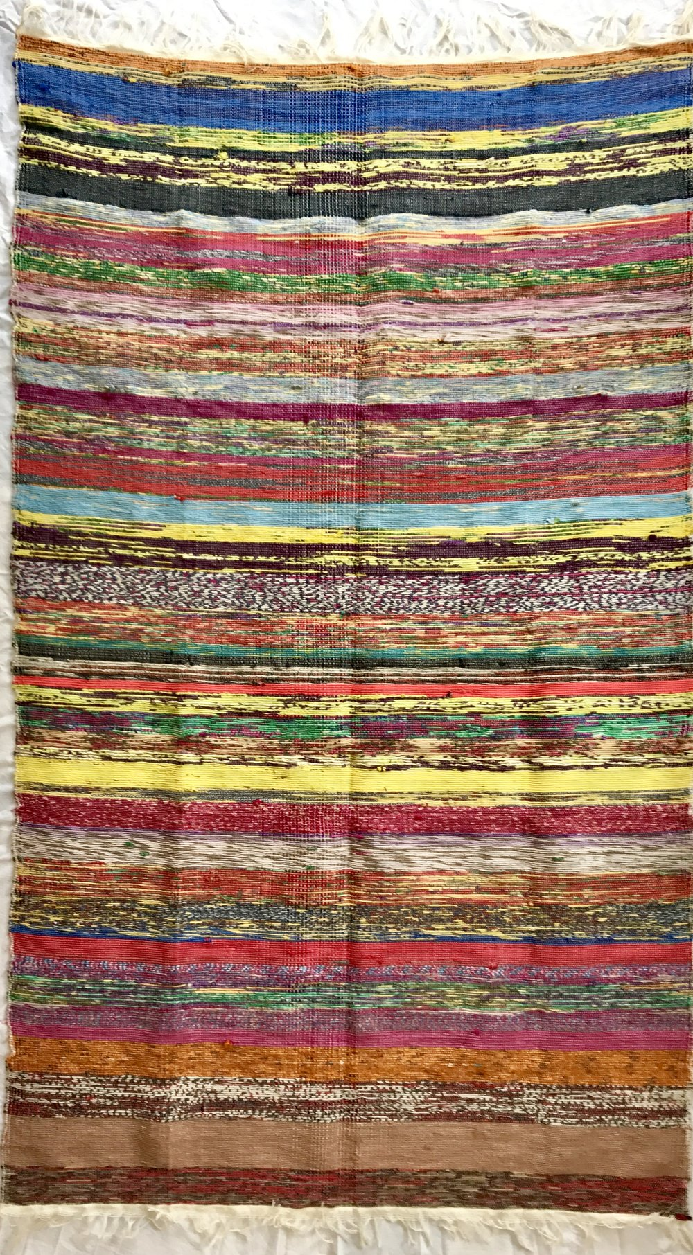 Indian Chindi handwoven rug (112 x 173 cm)