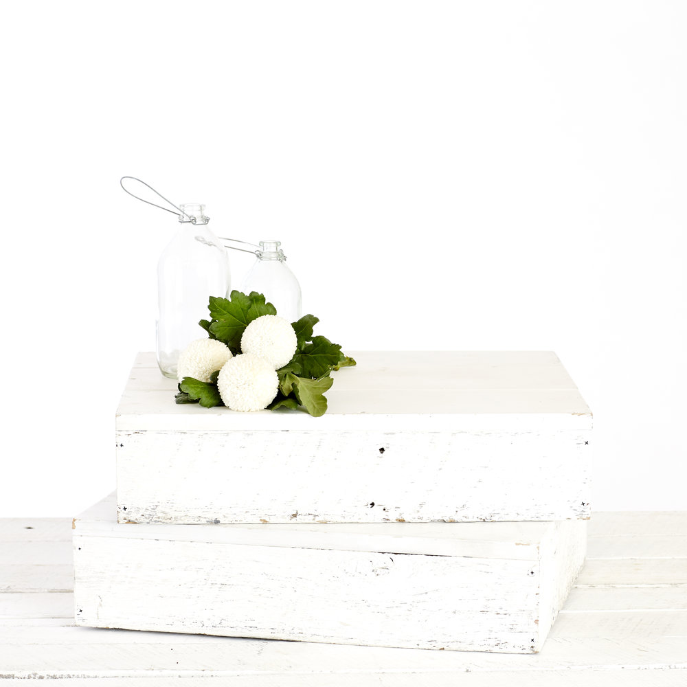 RUSTIC BOXES - WHITE