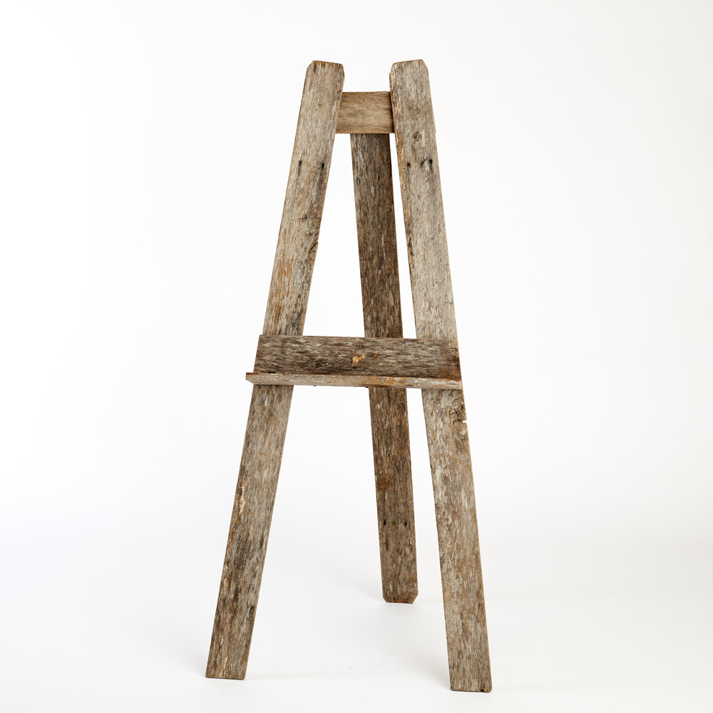 RECLAIMED TIMBER FLOOR STANDING EASEL